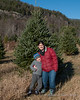 Liliana and Melissa in front of the tree we picked out