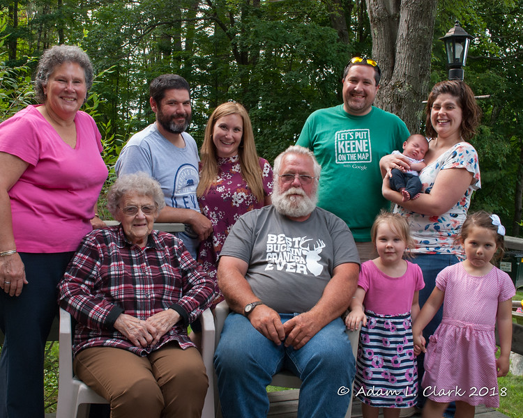 Four generations (with spouses) of the Clark side of the family