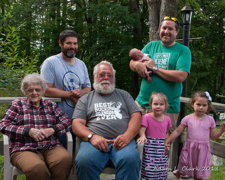Four generations of the Clark side of the family