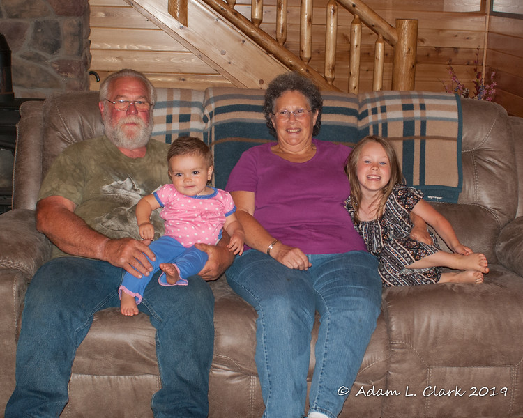 2019.09.02<br> Grampy and Grammy with Madison and Liliana at their house
