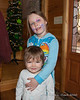 2020.02.29<br> Madison and Liliana at Grammy and Grandpy's house.  Liliana has done her own makeup in this picture