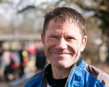 Steve Backshall -  At the Finish - Waterside Series Canoe Race Newbury 2017