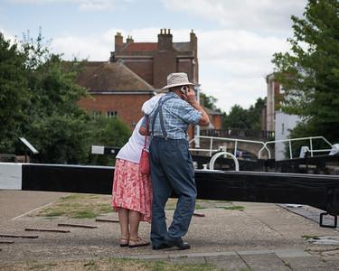 Couple at the Lock - Newbury