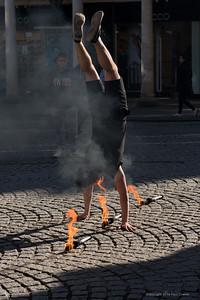 Man of Fire - Bath Street Performer 24th March 2019