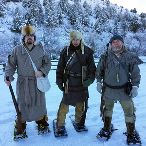 Mountain men at the first Willy Wapiti Smokepole Biathlon at Hardware Ranch.