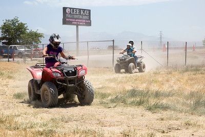 Folks riding ATVs during Outdoor Adventure Days. Photo by Mike Christensen, Utah Division of Wildlife Resources.