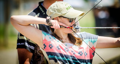An archer at Outdoor Adventure Days. Photo by Steve Gray, Utah Division of Wildlife Resources.