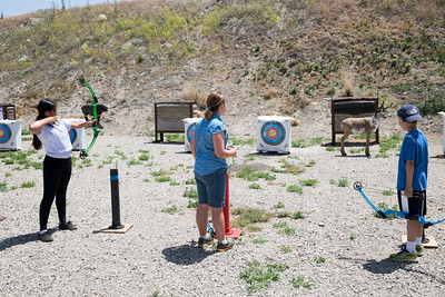 Young archers at Outdoor Adventure Days. Photo by Mike Christensen, Utah Division of Wildlife Resources.