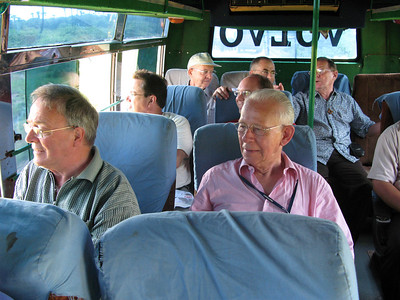 The guests begin their bus trip to various places near the SCJ seminary in Gorantla.