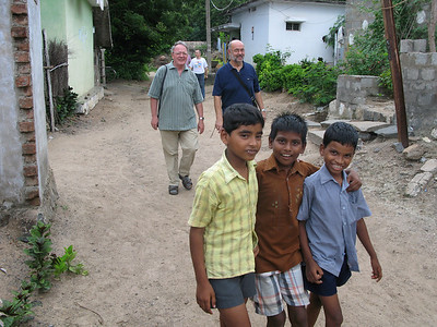 Visiting a near by poor village where SCJs do ministry.
