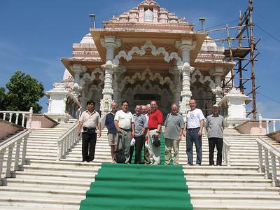 Visiting a Jain temple.