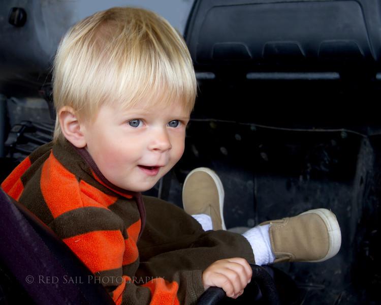 Owen in Jeep