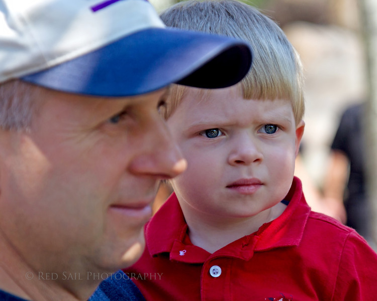 Owen and Frank at the Jacksonville Zoo and Gardens.