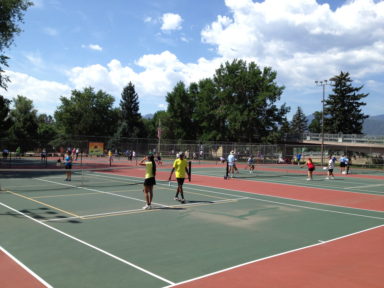 Let the Rocky Mtn State Games begin - six courts in action.