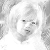 High key painterly black and white child portrait, contact Sandy at ImagesbySandra.gmail.com