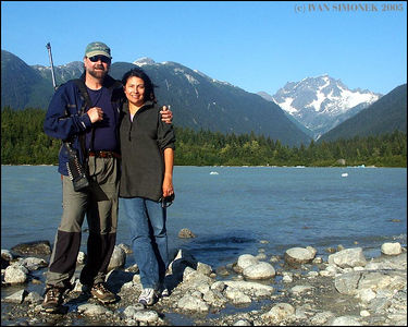 """JIM AND WILMA LESLIE"", owners/operators of  Alaska Waters,Inc. based at Wrangell,Alaska.Photo taken by Great Glacier lake,B.C.,Canada.-----""JIM A WILMA LESLIE"",vlastni a provozuji Alaska Waters,Inc. z Wrangellu, Aljaska.Foceno u jezera Great glacier,B.K.,Kanada."