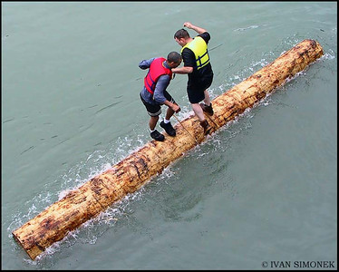 """LOG ROLLING 3"",July4,Wrangell,Alaska,USA."