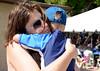 Phyllis Falcone hugs her son Bennett, 5.
