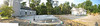 August 9 - The slab for the addition has been poured - the panorama view makes it look huge, doesn't it!