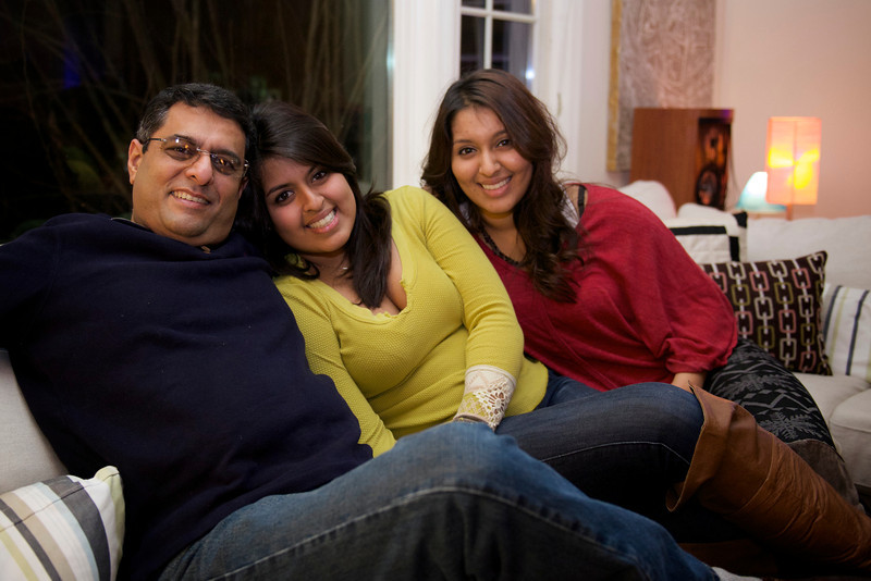 Nikhil with daughters