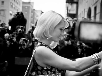 Paris Hilton outside the Ed Sullivan Theater before a David Letterman appearance on January 28, 2008.