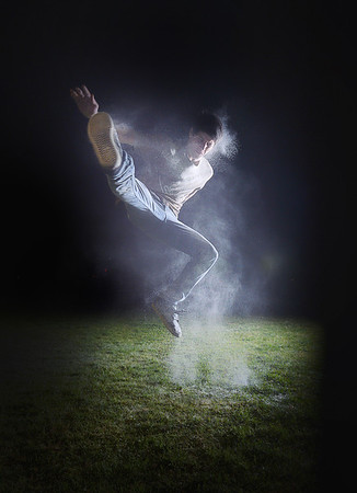 Charlie Giron Parkour with Flour
