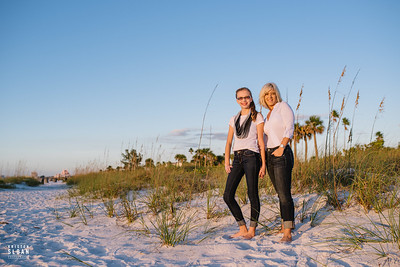 Pass A Grille Beach Florida Portraits at Sunset