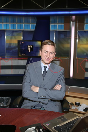 Pat Kiernan at the Broadcast Studios of NY1