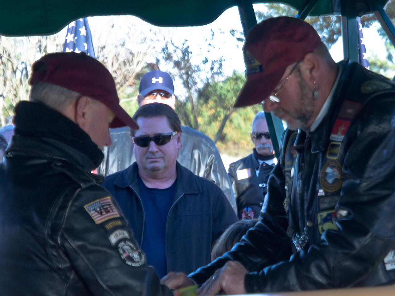 OB Jammer helps prepare a PGR flag