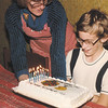 Nerd rejoices upon receiving nerd-themed cake
