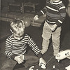 Pat and Jim, Pat's 4th birthday 1972