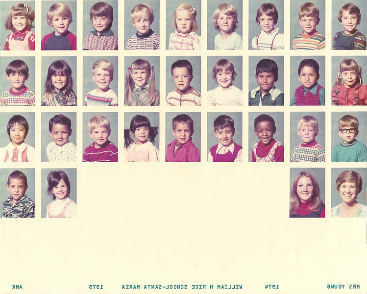 Grade 0 (Kindergarten), Mrs. Young