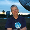 Looking for life in outer space: Seti director Jill Tarter at the Allen Telescope Array in Hat Creek, California.