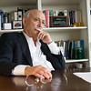 "Always gazing into the future: Jeremy Rifkin, author of books like ""The Age of Access"" and ""The Third Industrial Revolution"", in his office at the Foundation on Economic Trends in Washington, DC."