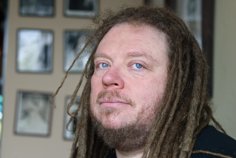 "The man who gave us ""virtual reality"": inventor, author, scientist and musician Jaron Lanier, photographed at Café Leila in Berkeley, California, April 2011."