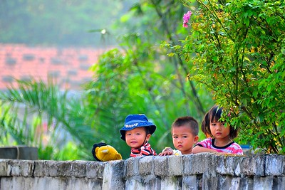 Siblings, Quan Lan Island, Bai Tu Long Bay, Vietnam