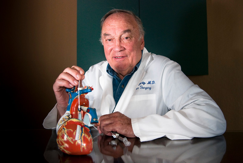 Dr. Thomas Fogarty, owner of Fogarty Winery and Vineyards as well as inventor of the balloon catheter that pioneered minimally invasive heart surgery.