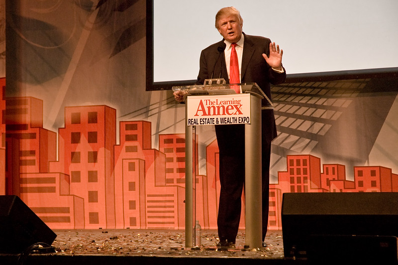 "How to make a million dollars in two hours: Donald Trump, speaking at the ""Real Estate & Wealth Expo"" in San Francisco."