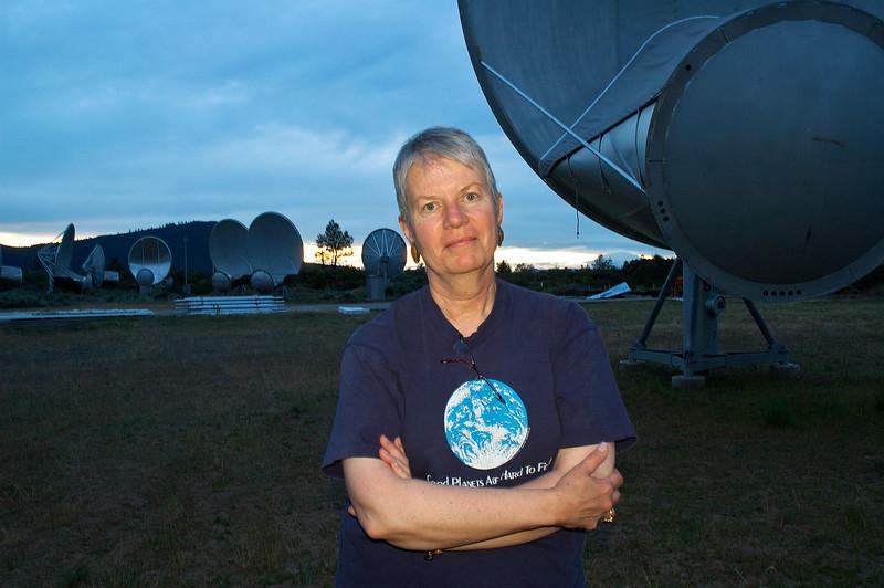 Seti Director Jill Tarter at the Allen Telescope Array in Hat Creek, California.