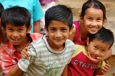 Gurkha children, Bangalore, India