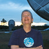 Somewhere up there... Seti director Jill Tarter at the Allen Telescope Array in Hat Creek, California.