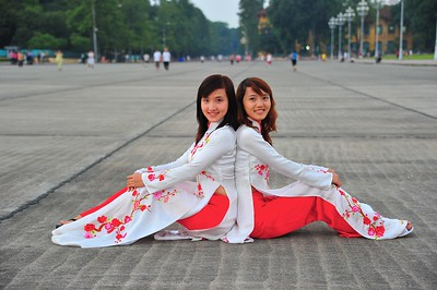 Classmates, Ho Chi Minh Mausoleum, Hanoi, Vietnam