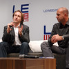 Mr. YouTube, Chad Hurley (left), onstage with Le Web conference founder and Seesmic CEO Loic Le Meur.