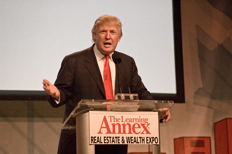 "Donald Trump speaking at the ""Real Estate & Wealth Expo"" 2007 in San Francisco."