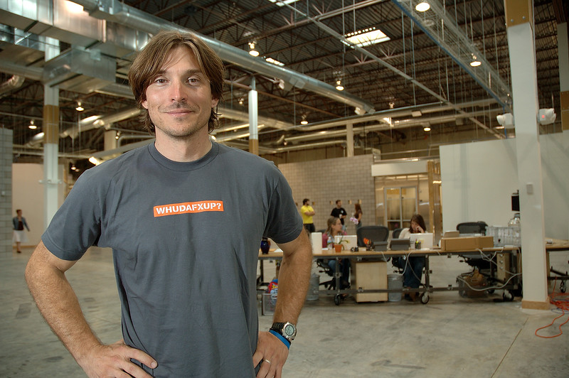 Alex Bogusky, former head of advertising agency CP+B at his company's office in Boulder, Colorado, August 2006.