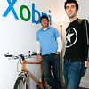 Xobni founders Adam Smith (left) and Matt Brezina at their original San Francisco office