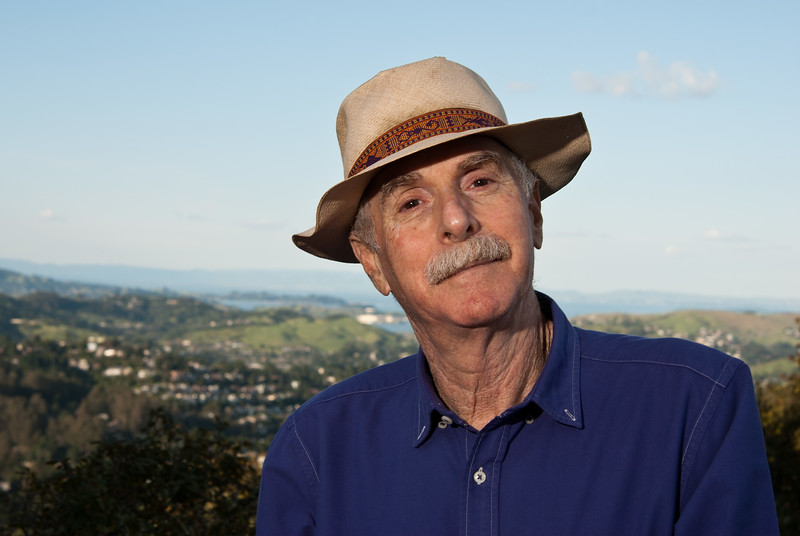 Author Howard Rheingold, over the hills of Mill Valley, California.