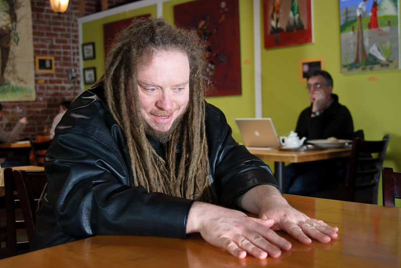 Jaron Lanier at Café Leila in Berkeley, California.
