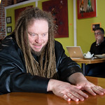 Jaron Lanier at Caf� Leila in Berkeley, California.