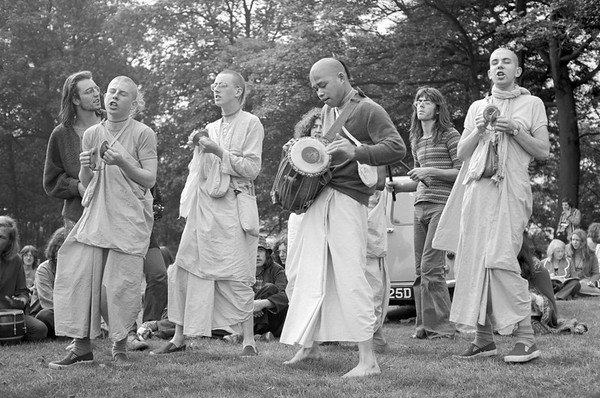 Hari Krishnas - Weston Park Sheffield Yorkshire UK 1970's